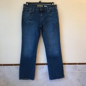 Old Navy Straight Leg Jeans Stretch Low Waist